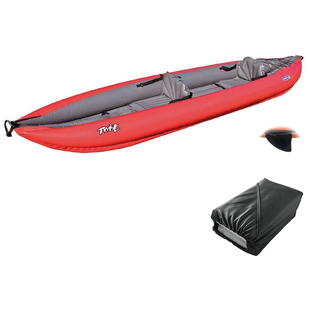 2 alta presión Gumotex - Kayak inflable giro con bolsa y aleta ...