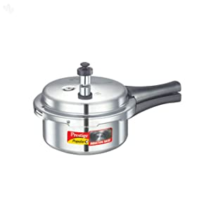 Prestige P+2L Popular Plus Induction Base Aluminum Pressure Cooker, 2-Liter, Silver