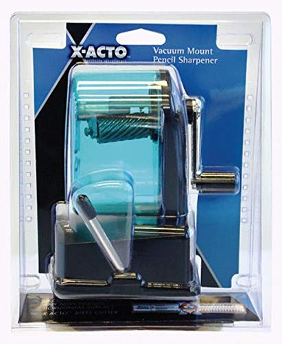 X-ACTO 1178 Bulldog Vacuum Mount Manual Pencil Sharpener, Assorted Colors