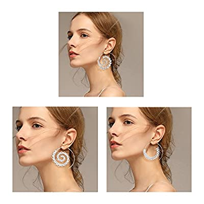 Geerier Spiral Hoop Earrings Set Vintage Tribal Swirl Earrings For Women 3 Pairs/Set from Geerier