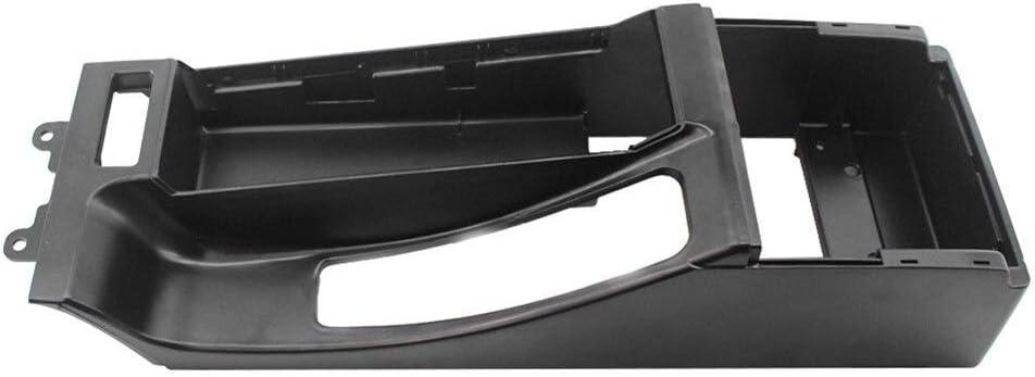 Mittelkonsole Trim Base Fit for BMW E46 325i 328i 330i M3 Autoteile Leicht Zu Installieren Color : Black