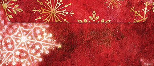 Geographics Classic Santa Christmas Envelopes, No.10, 4.12 x 9.5 Inches, Gold Foil, 20 Pack (49759W)