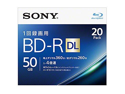 Sony 4X BD-R DL 20 pack 50GB White Printable 20BNR2VJPS4