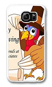 Happy Thanksgiving Pictures Custom Samsung Galaxy S6/Samsung S6 Case Cover Polycarbonate White