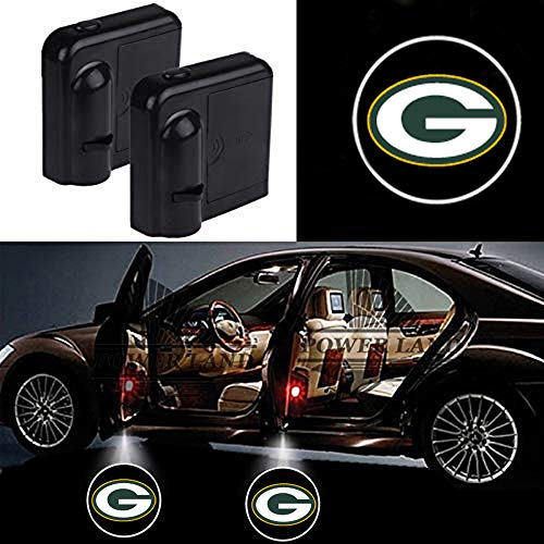 For Green Bay Packers Car Door Led Welcome Laser Projector Car Door Courtesy Light Suitable Fit for all brands of cars (Green Bay Packers)