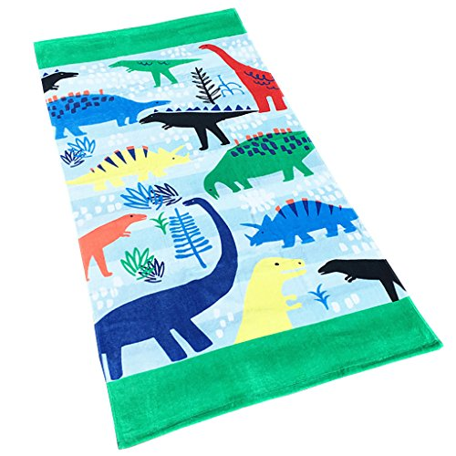 Boys Girls Beach Towel Kids Children 100% Cotton Bath Towel Bathrobe Blanket