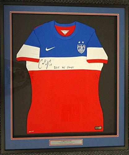 Carli Lloyd Autographed Framed Red Nike Jersey Team USA
