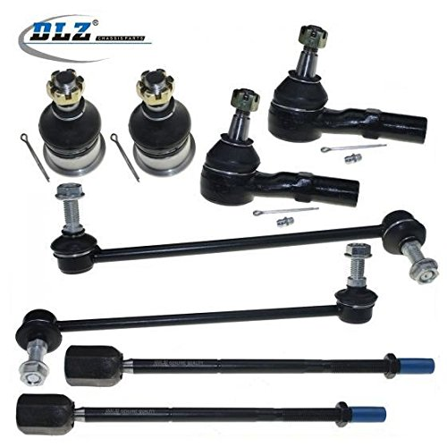 DLZ 8 Pcs Front Suspension Kit-2 Lower Ball Joint 2 Outer 2 Inner Tie Rod End 2 Sway Bar Compatible with 1996-2007 Ford Taurus 2007 Ford Taurus 1996-2005 Mercury Sable K8687 EV398 K8734 K8735 ES3349RL