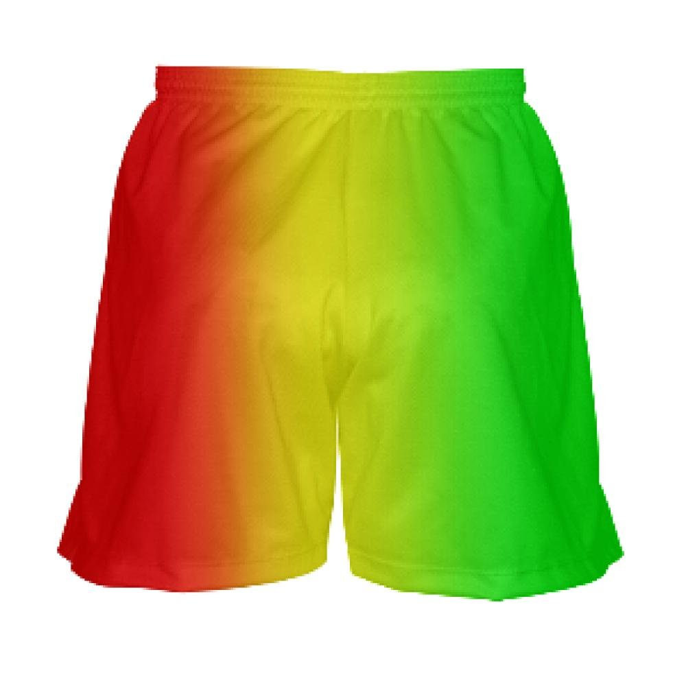 Red Youth Rasta Flag Lacrosse Shorts for Girls Youth