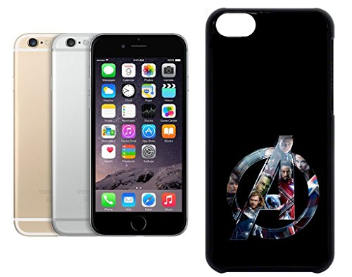 Cas de l'iPhone 6. Plastique noir avec High Gloss Imprime Inserer - The Avengers Logo