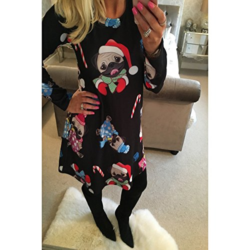 Dress Women Christmas Women's Girl New Line Ruiyige Pullover Flared 7 A ERd8q5qwnx
