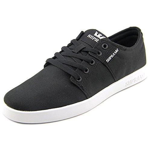 Supra Stacks Ii Chaussures Sneakers De Patinage En Nylon Balistique Su16 (noir / Blanc)