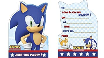 Creative Sonic The Hedgehog Party Invite 6 Amazoncouk Toys Games