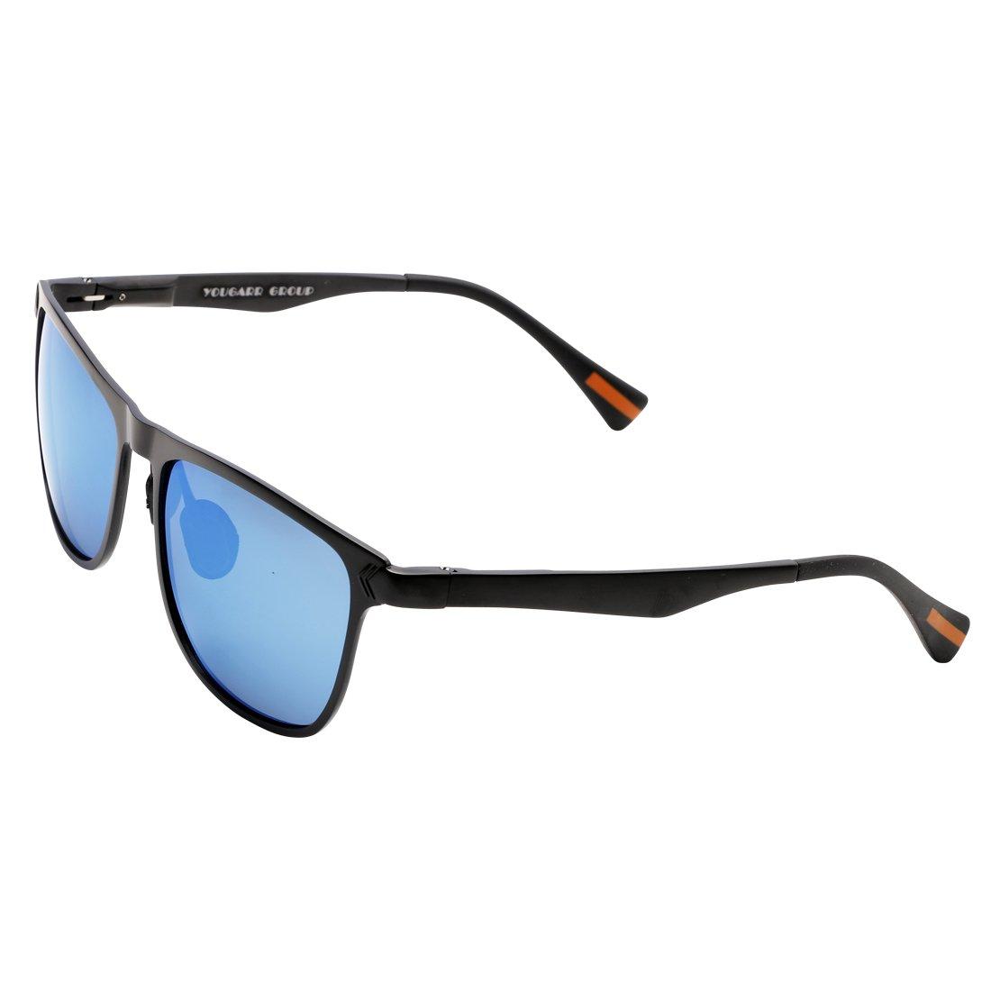 37c2c70530d94 Galleon - Yougarr Group Retro Wayfarer Sunglasses Polarized Metal Frame  Classic Vintage Design For Men Women (Blue Len Black Frame