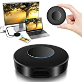 WIFI Display Dongle, Elegant Choise WiFi Wireless with Light Effect HDMI 1080P Full HD + AV Dual Output Display Receiver Support DLNA Airplay Miracast for iPhone / IOS /Android