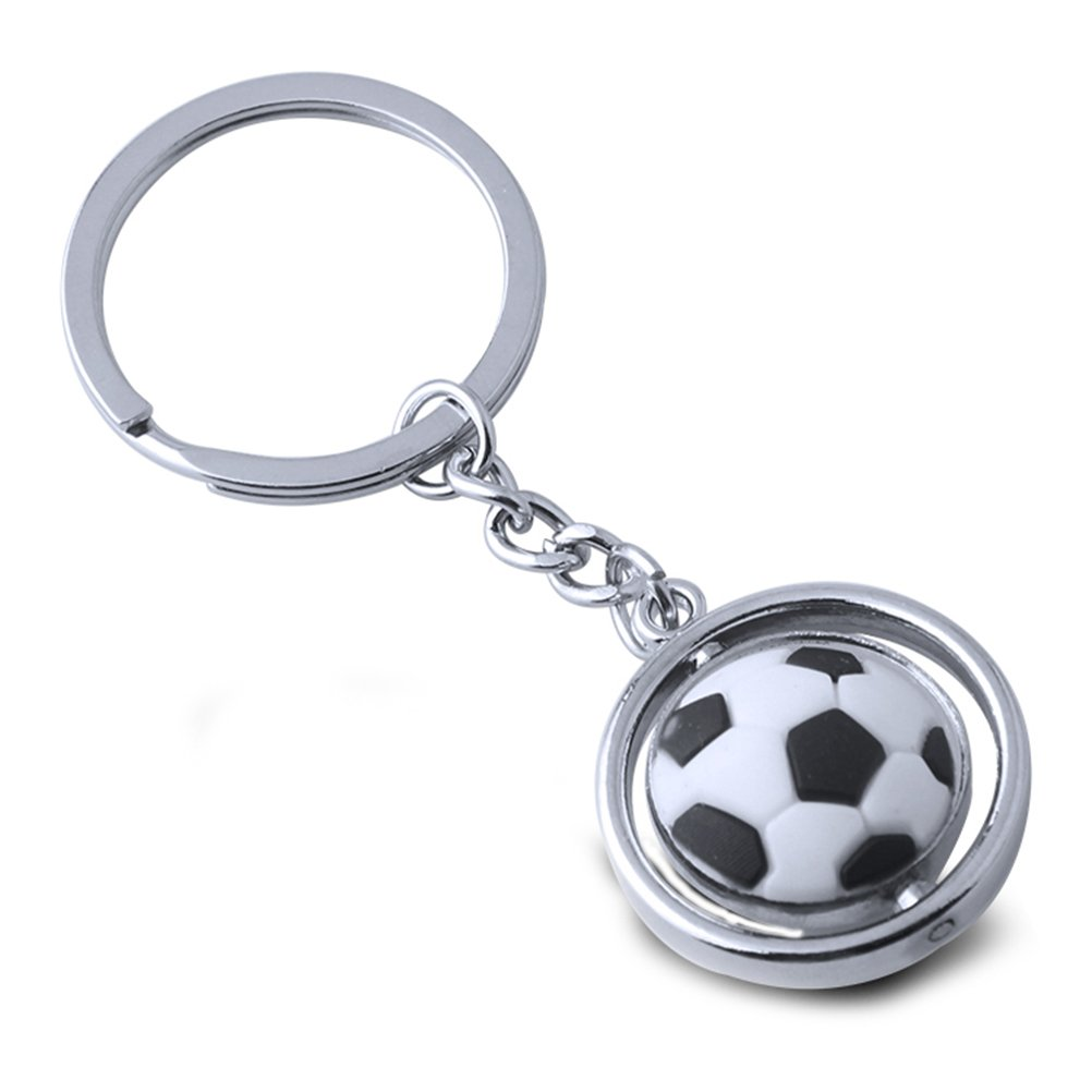 TOYMYTOY Fuß ball Schlü sselanhä nger - Metalldrehendes 3D Sport Keychain, Geburtstagsgeschenk