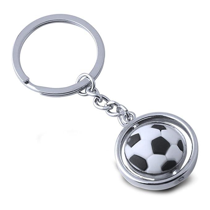 YeahiBaby Llavero del balón de fútbol - Metal Que Gira el Llavero ...