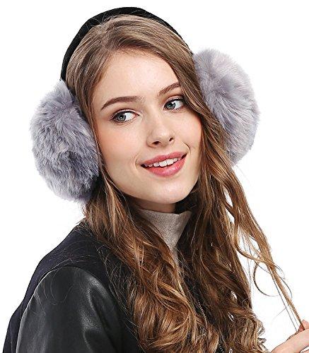 Lady Winter Fashion Simple Classic Ear Warmers Earmuffs Ear Muffs (Black And White Dress Up Ideas)