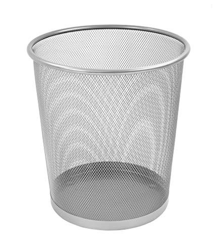 Osco 27.5Cm Mesh Waste Bin - Silver