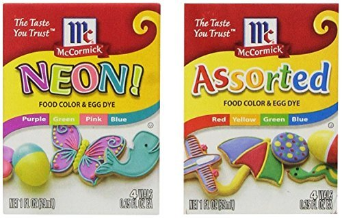 McCormick Assorted and Neon Food Color