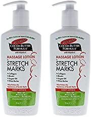 Palmers Cocoa Butter Formula Massage Lotion For Stretch Marks with Vitamin E - Pack of 2 For Women 8.5 oz Body Lotion