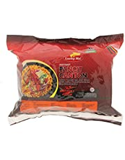 Lucky Me! Instant Pancit Canton (Chow Mein) Extra Hot Chili Flavor, 60g (Pack of 6)