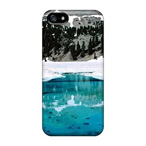 Awesome Beautiful Ice Flip Case With Fashion Design For Iphone 5/5s
