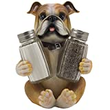 bulldog - Bulldog Salt & Pepper Shaker Set Statuette with Decorative Spice Rack Display Stand Holder Puppy Dog Figurine in Puppy and Canine Kitchen Decor or Restaurant Bar Table Decorations As Housewarming Gifts for Pet Lovers