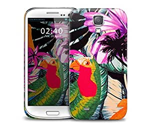 pop art parrot Samsung Galaxy S4 GS4 protective phone case