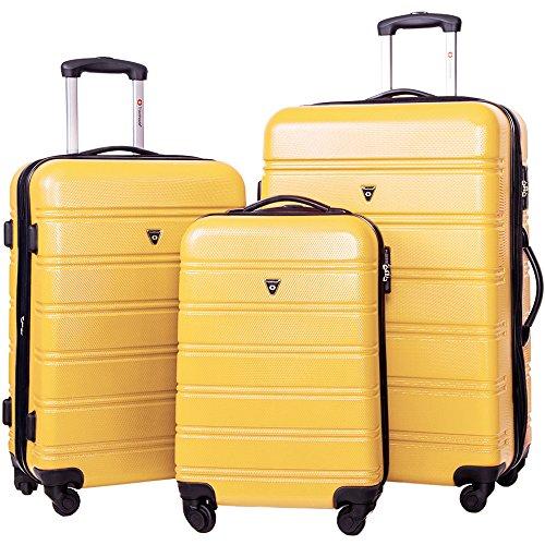 Merax Travelhouse Luggage 3 Piece Expandable Spinner Set - Luggage