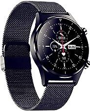 Relógio Inteligente Pulseira De AçO Masculino, Tela SensíVel Ao Toque De 1,28 Polegadas, MúSica Bluetooth, 24
