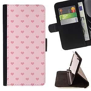 BullDog Case - FOR/Samsung Galaxy S3 III I9300 / - / heart pink polka dot pattern love /- Monedero de cuero de la PU Llevar cubierta de la caja con el ID Credit Card Slots Flip funda de cuer