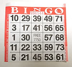 WE Games Punch-Out Bingo Cards (5o per pack)