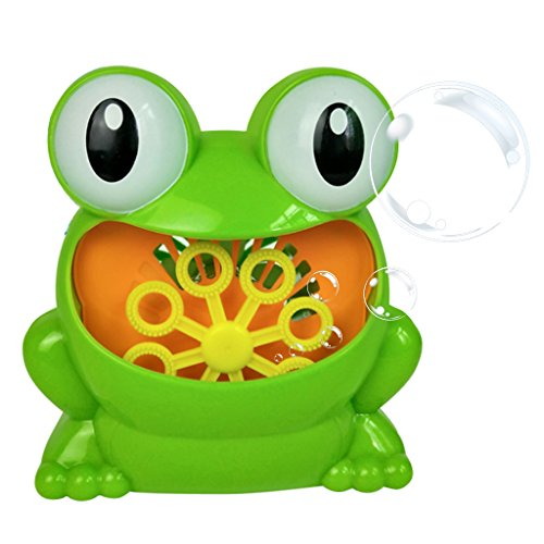 JAGENIE Frog Automatic Bubble Machine Blower Maker Party Wedding Outdoor Kids Toy Games B by JAGENIE