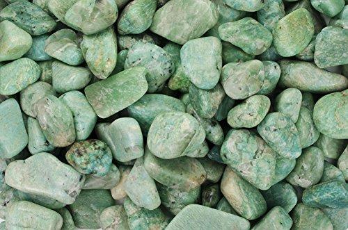 """مواد Fantasia: 1 پیمانه Amazonite B Grade Stones از برزیل - کوچک - 0.75 """"تا 1.25"""" متوسط"""