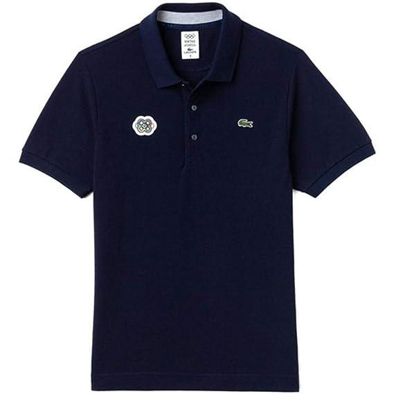 0332ac4957ab90 Lacoste Men's Polo Shirt - Blue - 5: Amazon.co.uk: Clothing