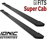 Ionic Gladiator Black Running Boards (Fits) 1999-2016 Ford Super Duty F250 F350 SuperCab