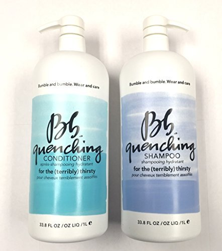 Bumble and Bumble Quenching Shampoo 33.8oz and Quenching Conditioner 33.8oz Liter Duo