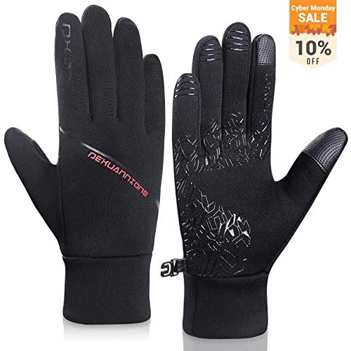 Lapulas Winter Gloves for Womens Mens Running Gloves Thermal Touchscreen Windproof Warm for Cycling Riding Driving Climbing Black