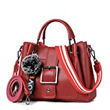 A Slant Bag, A Single Shoulder Bag With A Wide Shoulder Strap, A Lady'S Bag,Gules,27X21X10Cm