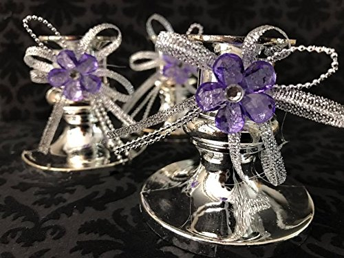 16 Candle Holder Favor with Flower Decoration for Sweet 16 Wedding All (Ambiance Candle Holder)
