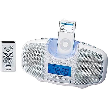 amazon com jensen jims 120 w docking digital music system for ipod rh amazon com