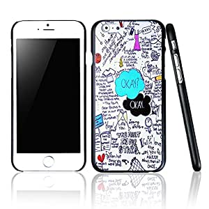 "AYAMAYA Fashion Style Illustrators Series Hard Back Cover Snap On Case for 5.5 inch iPhone 6 Plus (""OKAY"" Words Scrawl-CA019)"
