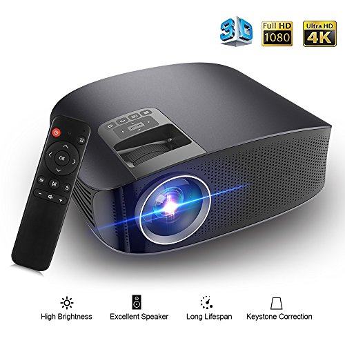 Video Projector Joyhero 4000 Lumens Professional LCD Projector 1080P High Resolution