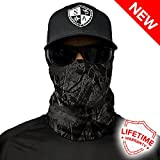Salt Armour Face Mask Shield Protective Balaclava Bandana Microfiber Tube Neck Warmer (Blackout Forest Camo)