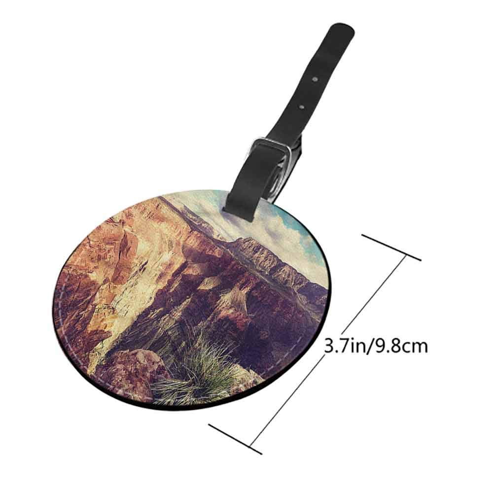Id Tag Suitcase Carry Canyon,Cartoon Grand Canyon Label Travel Accessories