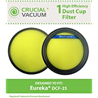 Crucial Vacuum Eureka DCF-25 Filter; Fits SuctionSeal (AS1100 Series), Endeavor NLS (5400 Series), Nimble (EL8600 Series); Compare to Part # DCF25, 67600, 82982-2; Designed & Engineered