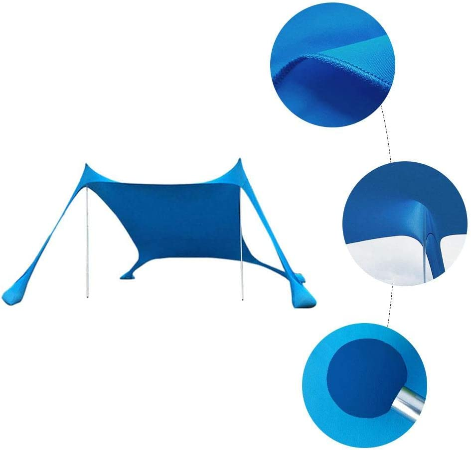 tragbar leicht Strand Blessvt Sonnenschutz f/ür Familie gro/ß Sonnenschutz f/ür Camping