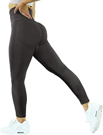 MOOSLOVER Seamless Butt Lifting Workout Leggings for Women High Waist Yoga Pants Compression Contour Tights