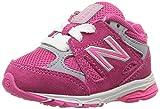 New Balance Girls' KJ888 Running Shoe, Pink/Grey, 12.5 Medium US Little Kid
